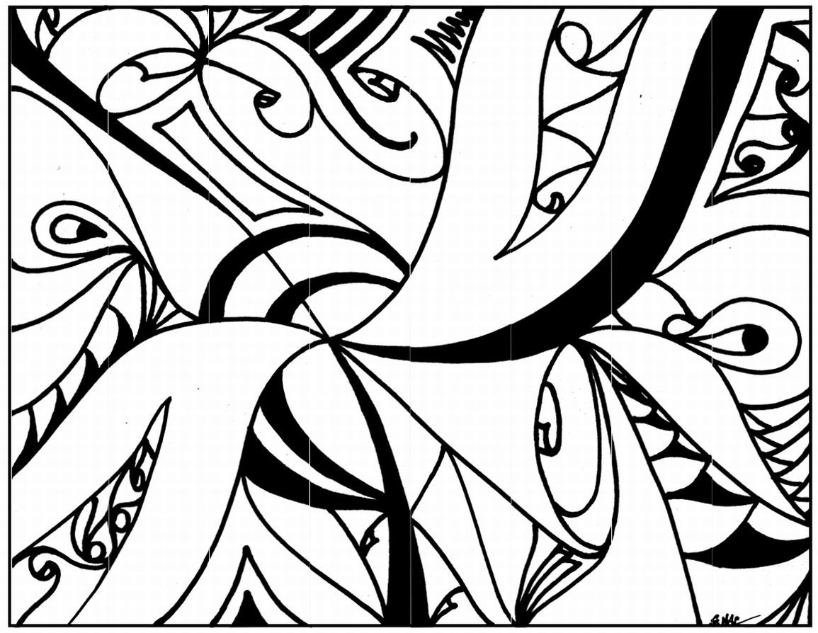 Attirant Abstract Coloring Pages | Abstract Art Printable Coloring Pages_LRG