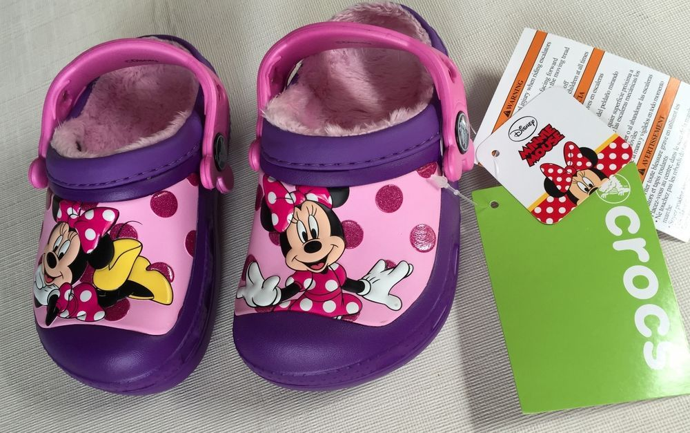291ef151112 CROCS(™) Kids Disney MINNIE MOUSE Neon Purple LINED Clog s/strap  c6/7,8/9,10/11 #CrocsDisneyMinnieMousecrocs #Clogs