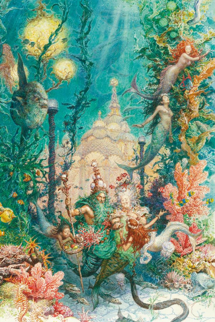 Illustrationen Aus Die Kleine Meerjungfrau Von Hans Christian Andersen Kunstlerisch Umgesetzt Kunstproduktion Die Kleine Meerjungfrau Fantasy Meerjungfrauen