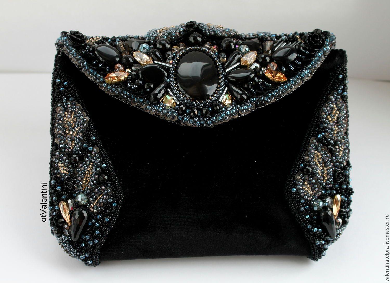 e68e4d7e5b60 Купить сумочка бархатная вечерняя - черный, цветочный, вечерняя сумочка,  театральная сумочка, клатч