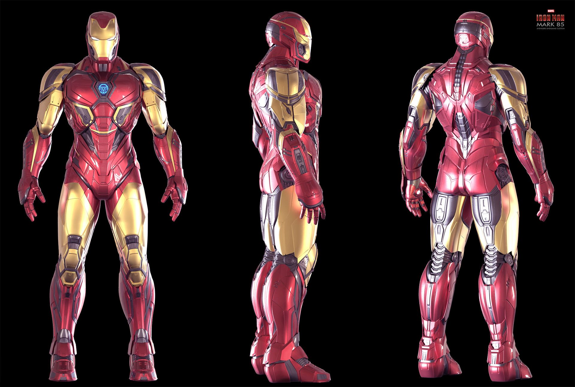 Artstation Iron Man Endgame Custom Mk 85 Christophe Lacaux Iron Man Art Iron Man Armor Iron Man Avengers