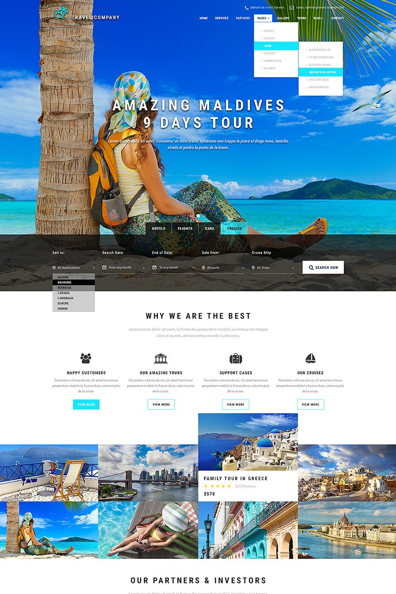 Travel Booking Website Template Bootstrap Website Templates - Booking website template