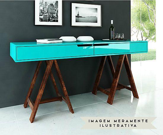 Aparador De Grama ~ Aparador Cavalétte Azul Turquesa Sala de estar Pinterest Aparador, Salas e Móveis