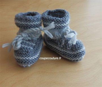 patron tricot bas de bebe