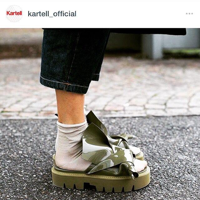 c18fc8218a Kartell x N21   snow0719   Official shoes, Rubber sandals, Shoes