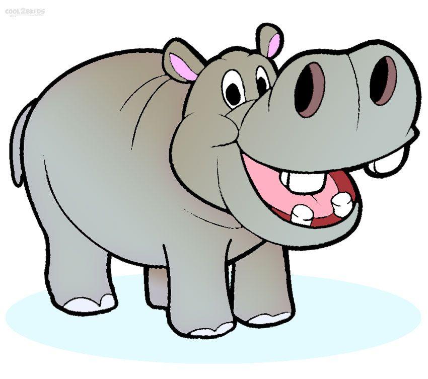 Free Cartoon Hippo Clipart