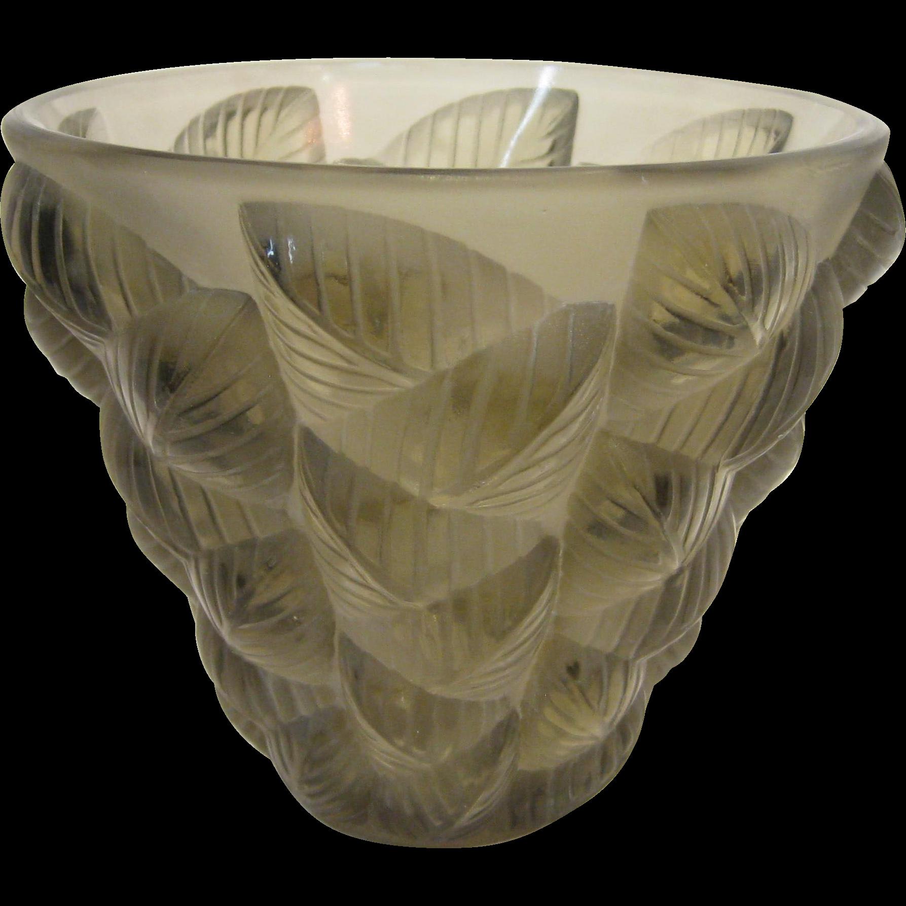 "René Lalique ""Mosaic"" glass vase, circa 1927"