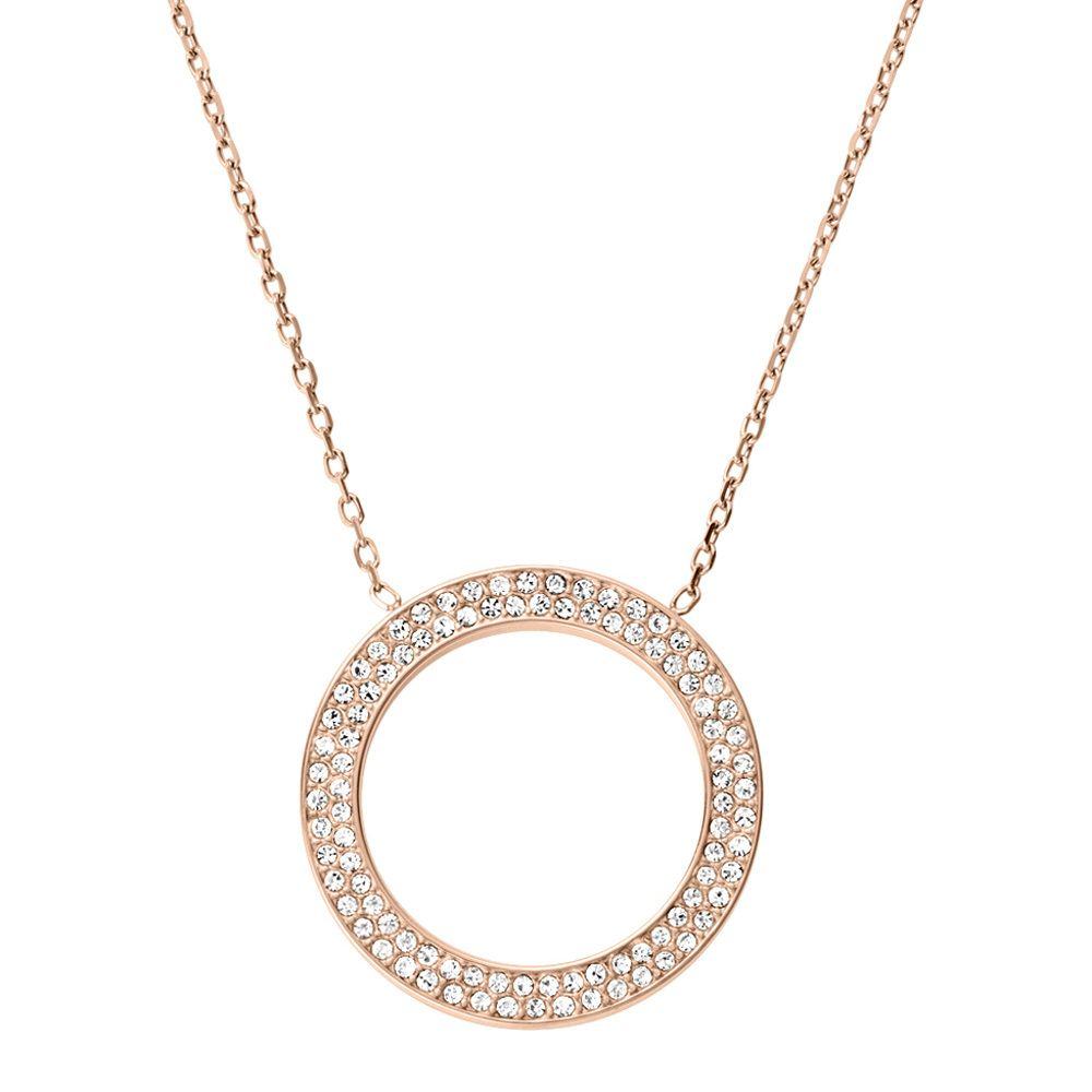 Michael kors rose gold crystal circle pendant jewelry michael kors rose gold crystal circle pendant mozeypictures Image collections