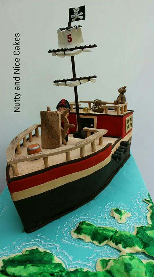 Pirate Ship Cake In Northampton 07886926290 Boat Cake Nutty