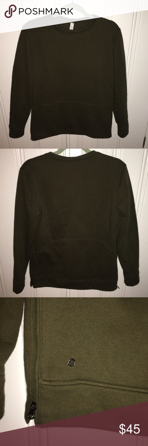 Lululemon Yes Fleece Pullover Military or fatigue Green color ...