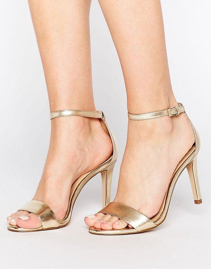 e19068281add ALDO Camy Gold Metallic Strap Sandals
