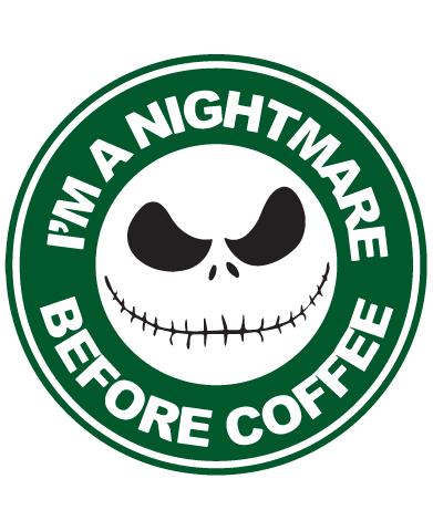 Photo of Starbucks Inspired Jack Skellington Coffee Logo – I'm A Nightmare Before Coffee