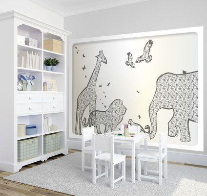 Wandgestaltung Spielzimmer Babys Raum wird zum Traum - Exklusives - wanddesign