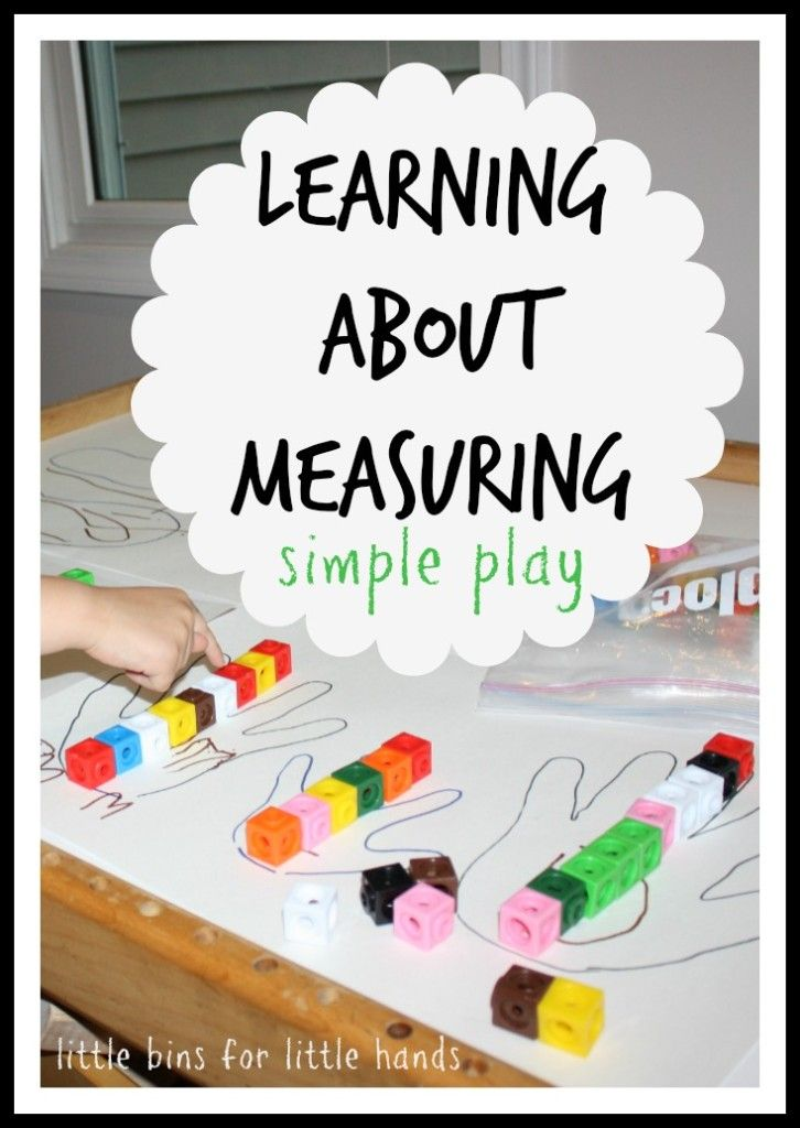 Preschool Math Measuring Activity Using Hands and Feet | Learning ...