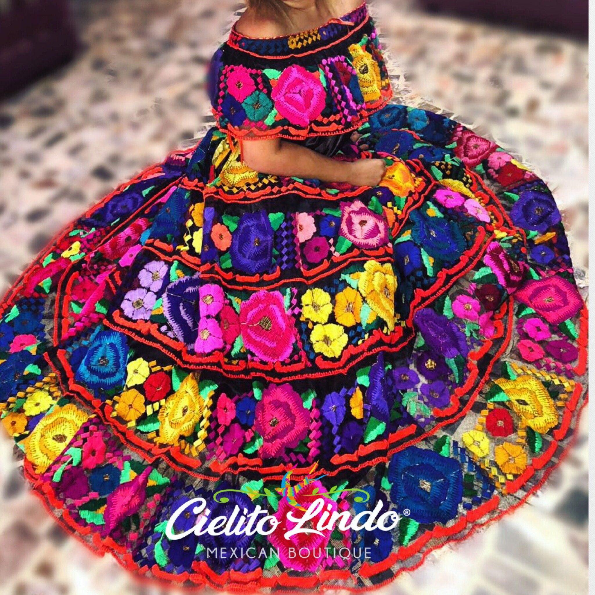 762ecb2636 Mexican Chiapaneca Dress Vestido Chiapaneco