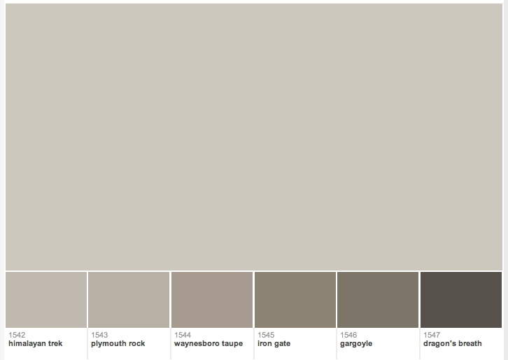 Benjamin Moore Warm Gray Paint Colors Small Decor On Home