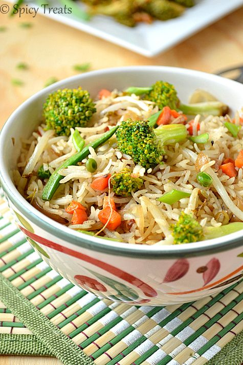 Spicy Treats: Chinese Veg Fried Rice / Vegetable Fried Rice - Chinese Restaurant Style