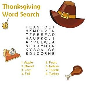 Image result for thanksgiving WORD games | Thanksgiving ...