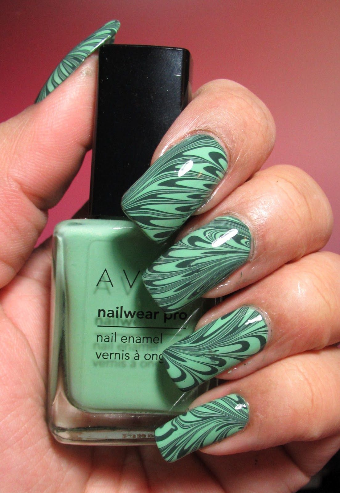 My Simple Little Pleasures: NOTD: Green & Green Water Marble + ...