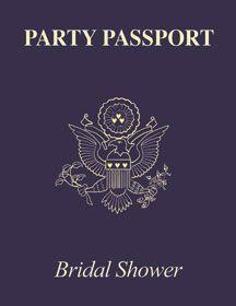 bridal shower passport invitation i love this idea since we are doing a destination wedding