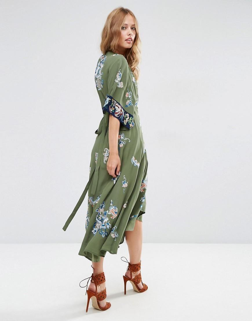 Kimono wrap dress || ASOS