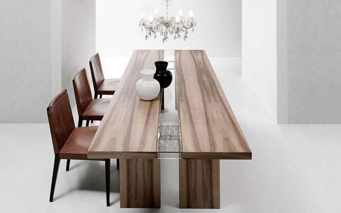 Table de salle à manger en bois massif- 29 designs modernes Pinterest