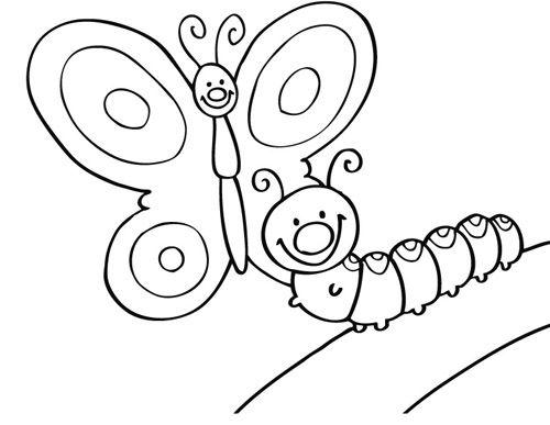 Raupe Ausmalbild 08 Raupe Raupe Schmetterling Malvorlage Schmetterling
