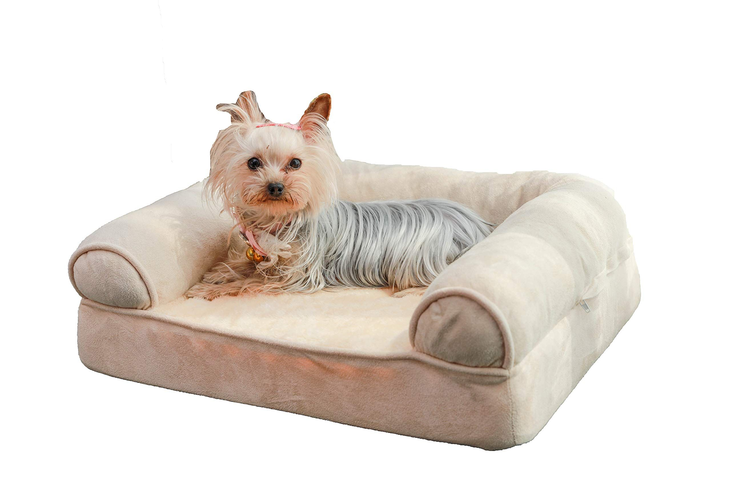 Orthopedic Dog Sofa Bed Comfortable Sofa Style Pet Bed Great For Cats And Dogs With Removable Washable Cover Small Medi Dog Sofa Dog Sofa Bed Orthopedic Dog