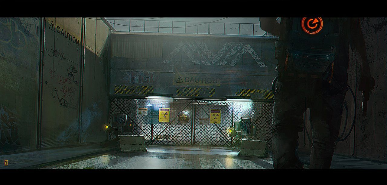 CAUTION, Markus Lovadina on ArtStation at https://www.artstation.com/artwork/caution