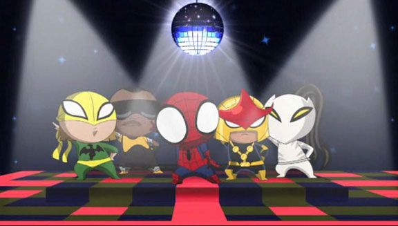 Ultimate Spider-Man' Fights the Frightful Four and Disco