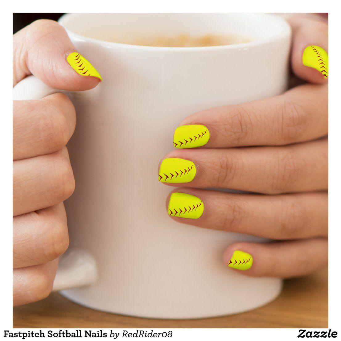 Fastpitch Softball Nails Minx Nail Wraps | Zazzle.com