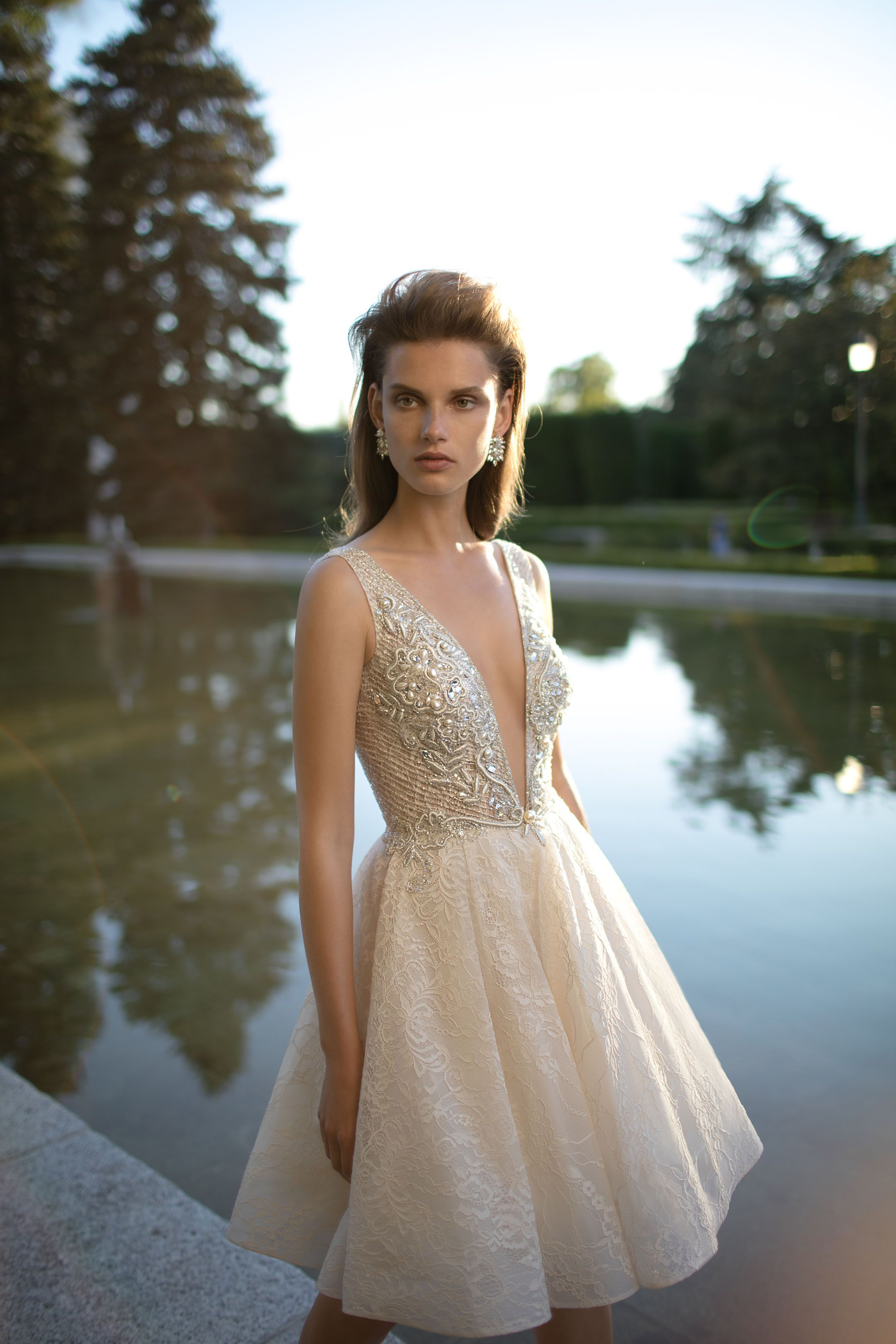Short Wedding dress from Berta Bridal 2016 Collection