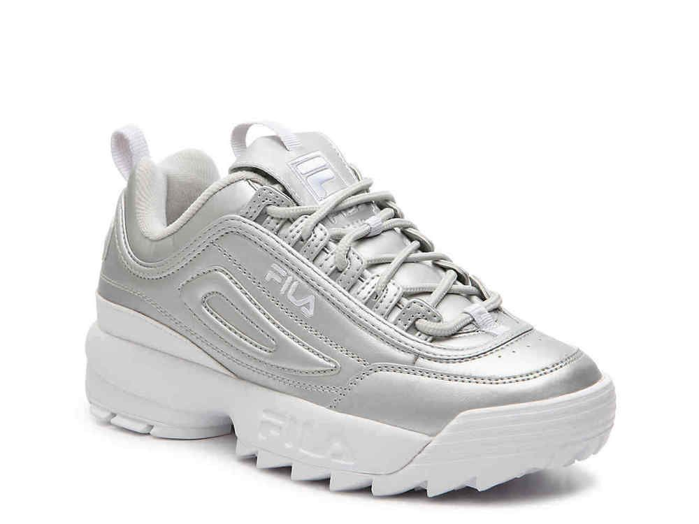Fila Womens Disruptor II (10 WhiteSilver 2029) #fashion