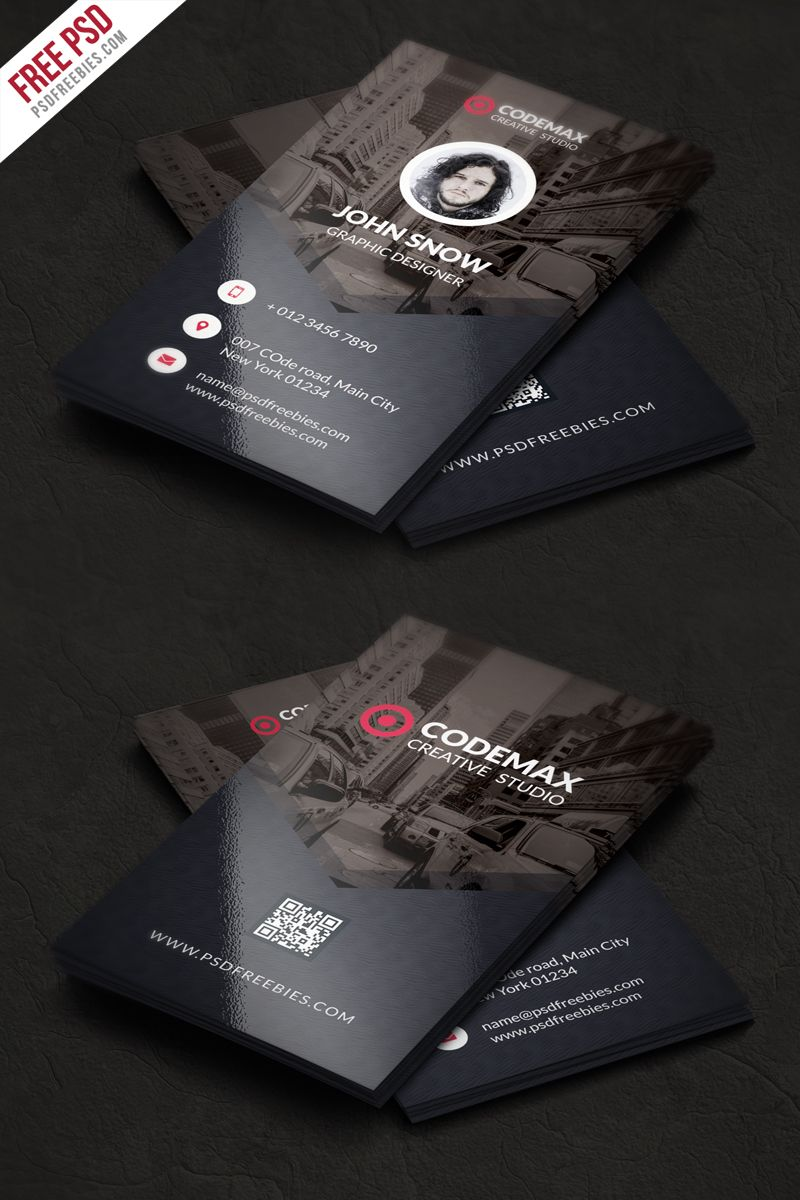 Modern Business Card Free PSD Template | Psd templates, Card ...