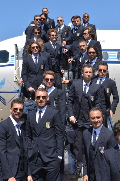 Arriving For The Eurocup Italy National Football Team National Football Teams Football Italy