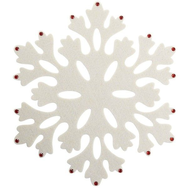 Pier One Felt Snowflake Placemat White 2 36 Liked On Polyvore Snowflake Placemat Placemats Christmas Decorations