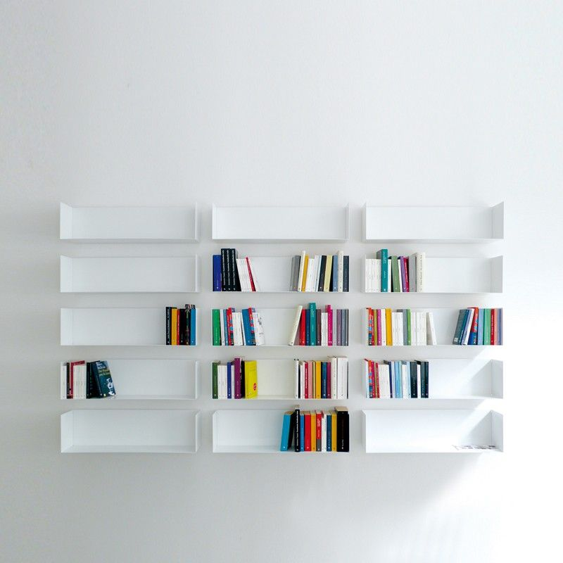 Wandregal bücher design  linea1 a Bücher- und DVD-Regal | Sichtbar, Stabil und Stärke