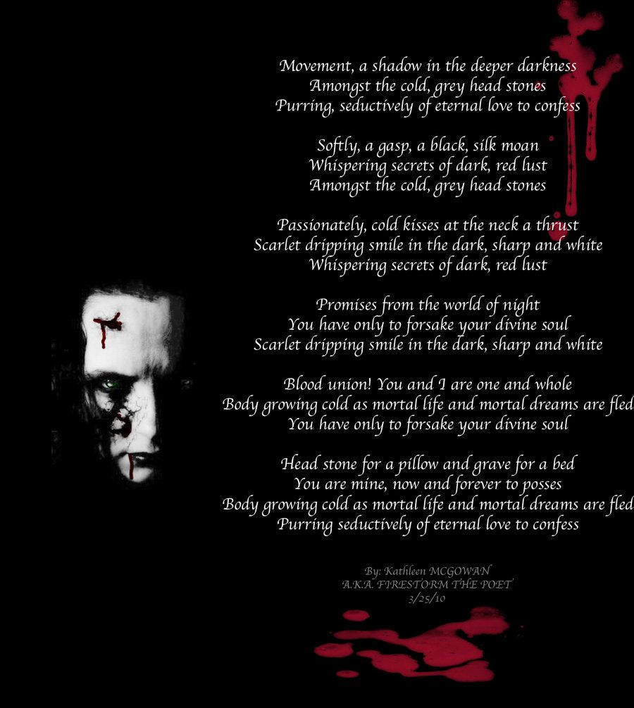 vampire poems | vampire s promise by firestorm the poet literature ...