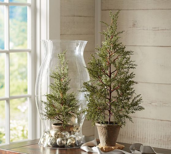 Faux Potted Mini Pine Tree | Pottery Barn | Christmas ...