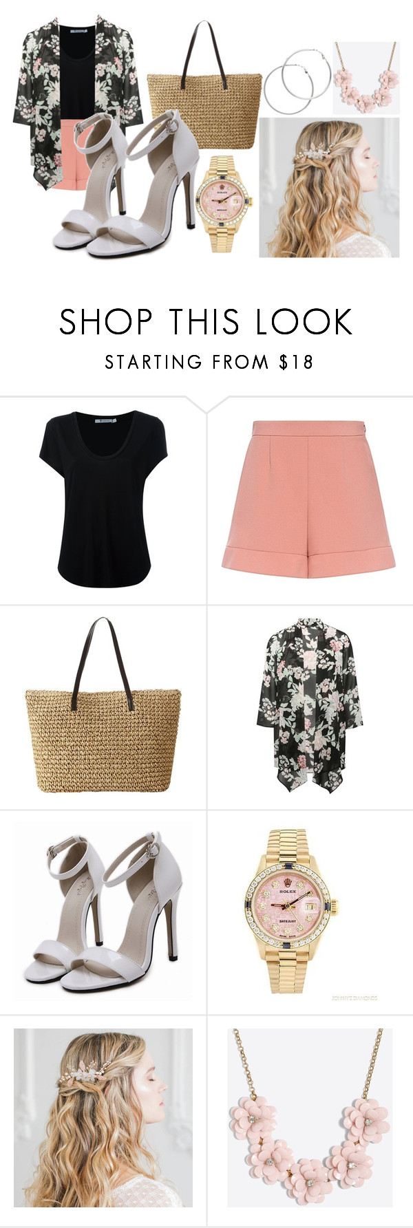 """""""🌸Summer Floral Combo 🌸"""" by blue99star on Polyvore featuring Alexander Wang, RED Valentino, M&Co, Rolex, J.Crew and Melissa Odabash"""