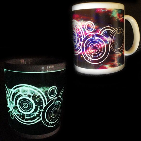 You don't want to blink when Weeping Angels are around so use this Personalized Doctor Who Glow-in-the-Dark Mug to drink coffee so you can remain alert. Everything about Doctor Who is cool, even the way Gallifreyan writing looks. Now you can have your name written in the Doctor's na