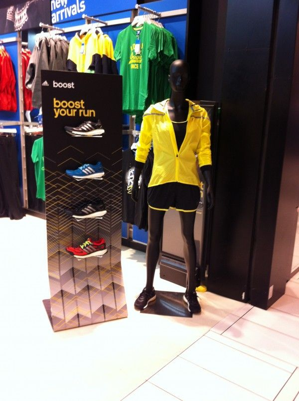 Display design of Adidas Boost campaign in Intersport Friis ...
