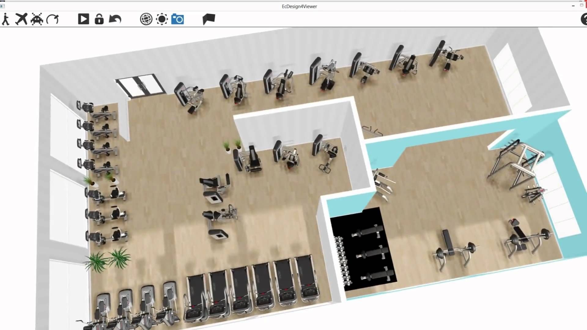 Ecdesign 3d gym design software 3d printers models for Gym design software