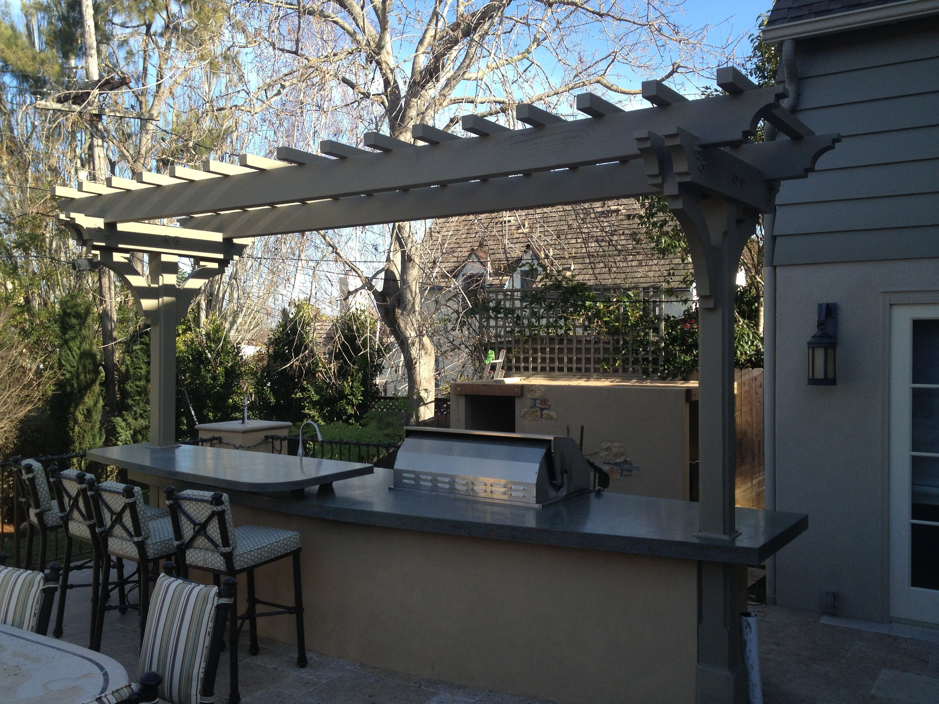 Lattice covered outdoor kitchen impeccable pinterest covered