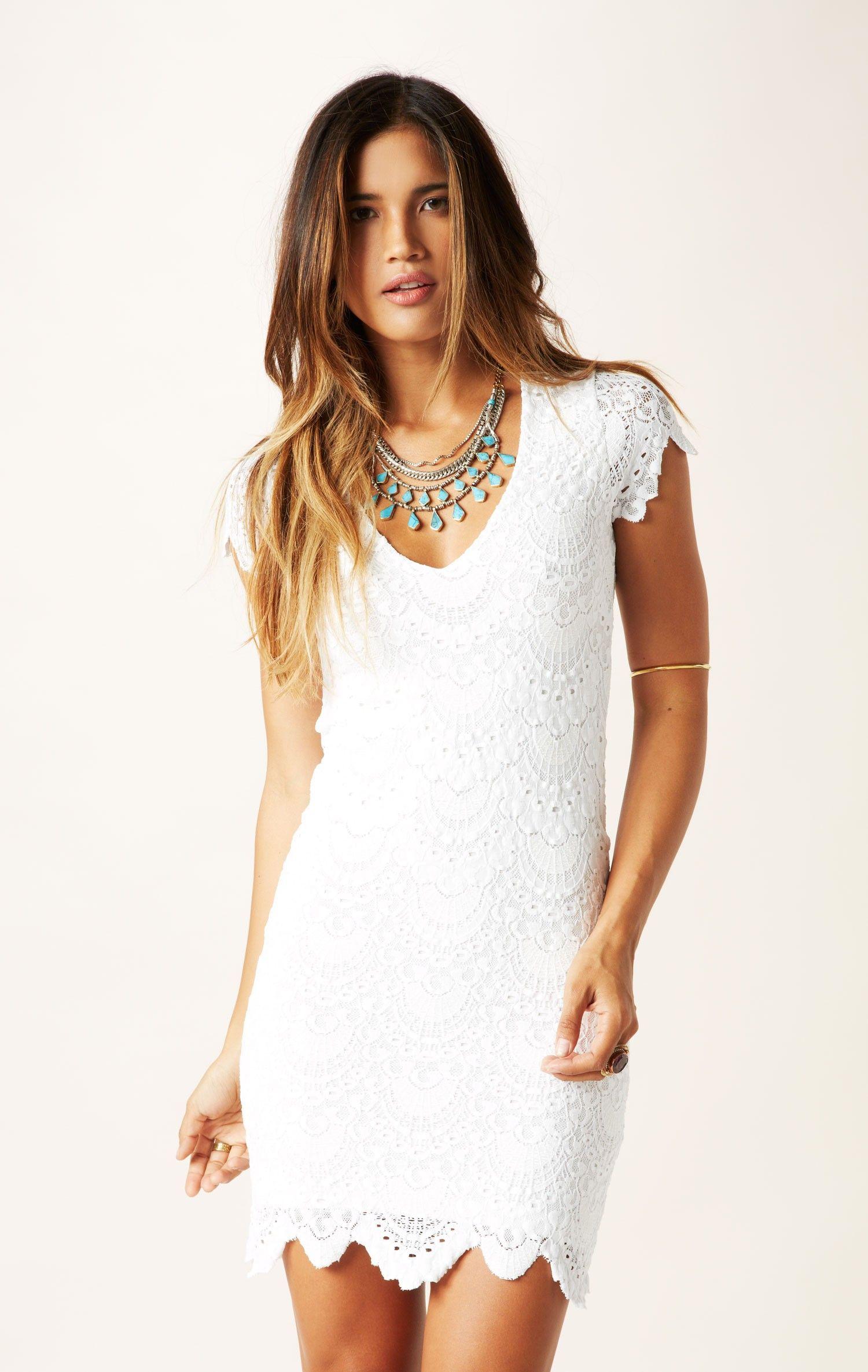 spanish lace cap sleeve dress // @Nightcap Clothing #whatsnew ...