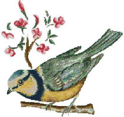 Free Patterns for Cross Stitch - Birds 02
