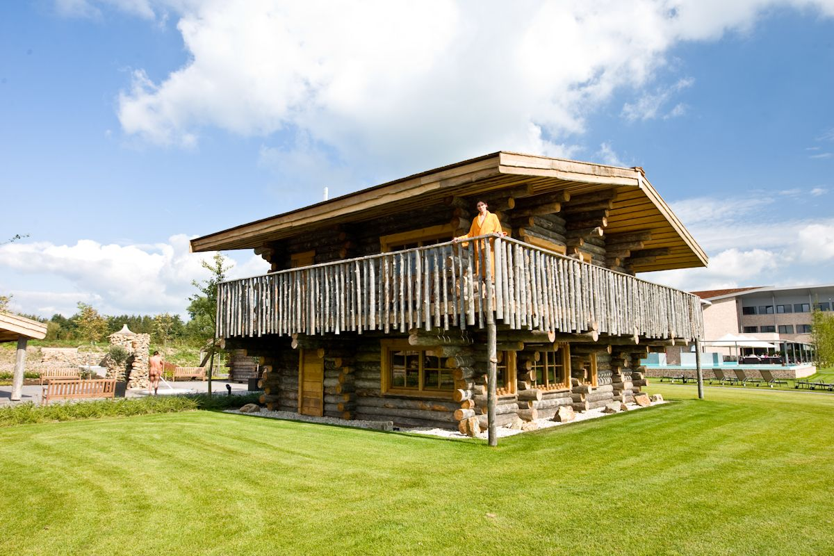 Very special sauna: Wild observation sauna at Wellnessresort de ...