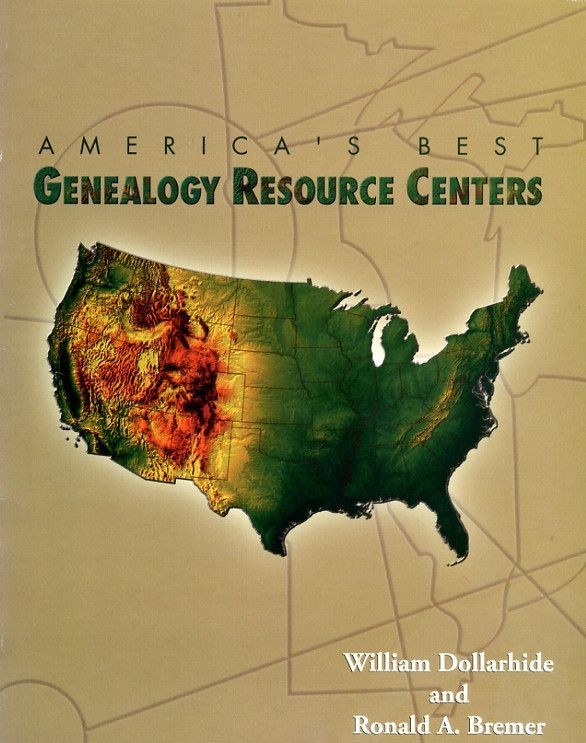 Reference book listing the top 600 US genealogy resource centers