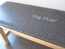 filz bankauflage aus wollfilz nach ma zierstich stuhlkissen aus filz in 2019. Black Bedroom Furniture Sets. Home Design Ideas