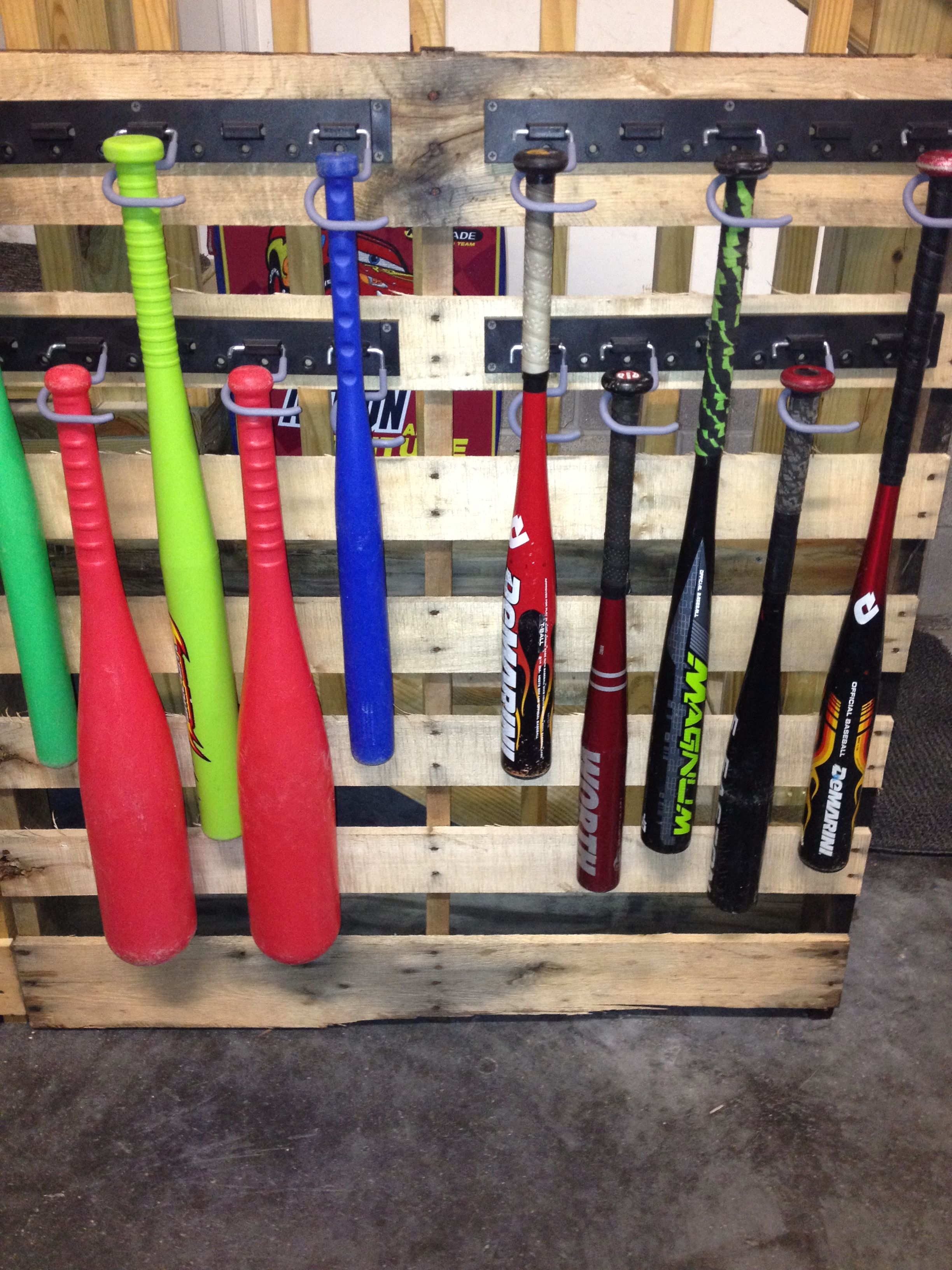 Pallet Baseball Bat Holder Hooks From Lowes